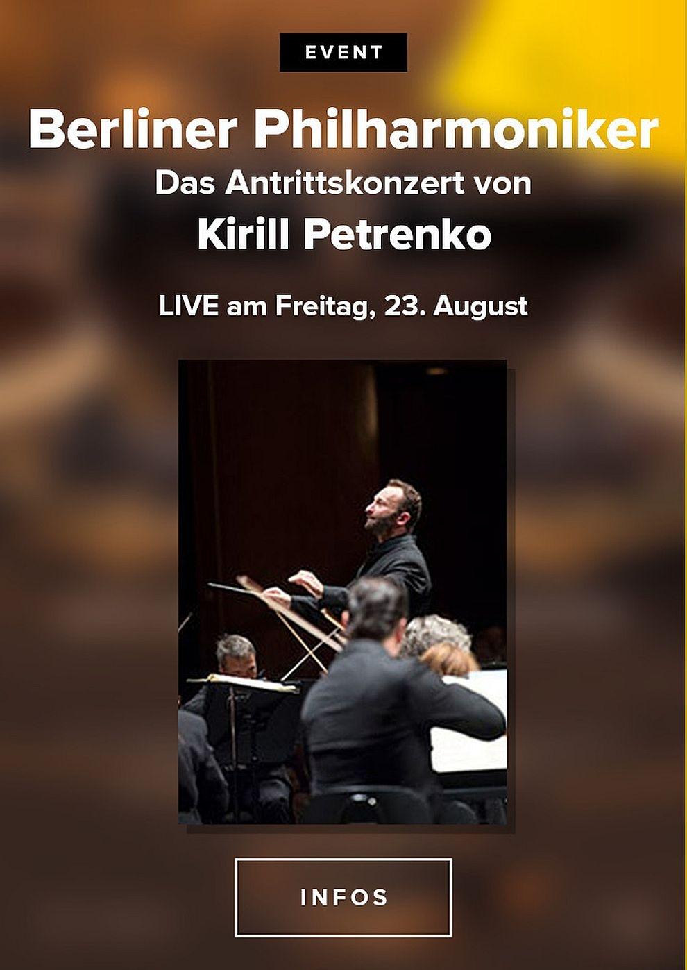 Berliner Philharmoniker 2019/20: Antrittskonzert von Kirill Petrenko (Poster)