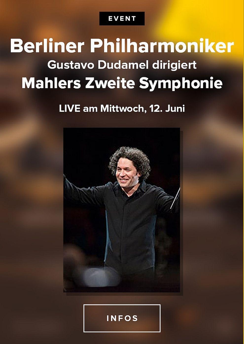 Berliner Philharmoniker 2019/20: Gustavo Dudamel dirigiert Mahlers Zweite Symphonie (Poster)