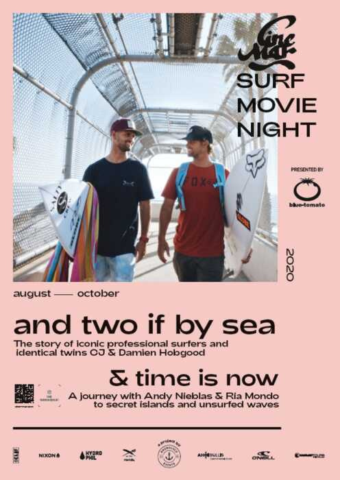 Cine Mar - Surf Movie Night: And two if by sea & Time is Now (Poster)