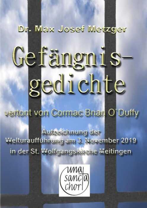 Gefängnisgedichte - vertont von Cormac Brian O`Duffy (Poster)