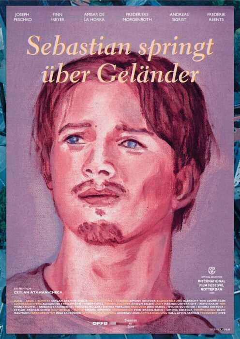 Sebastian springt über Geländer (Poster)