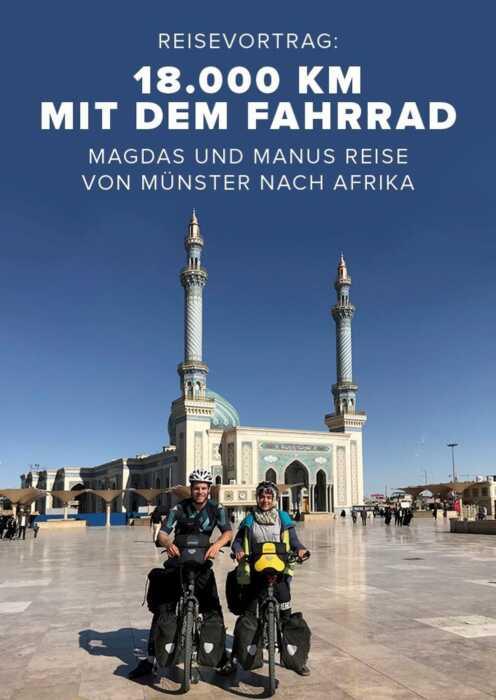 18.000 km mit dem Fahrrad (Poster)