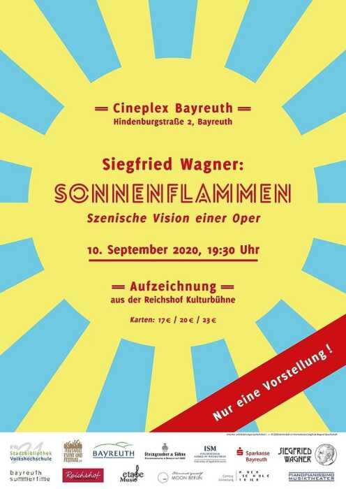 Siegfried Wagner: SONNENFLAMMEN (op. 8, 1912) (Poster)