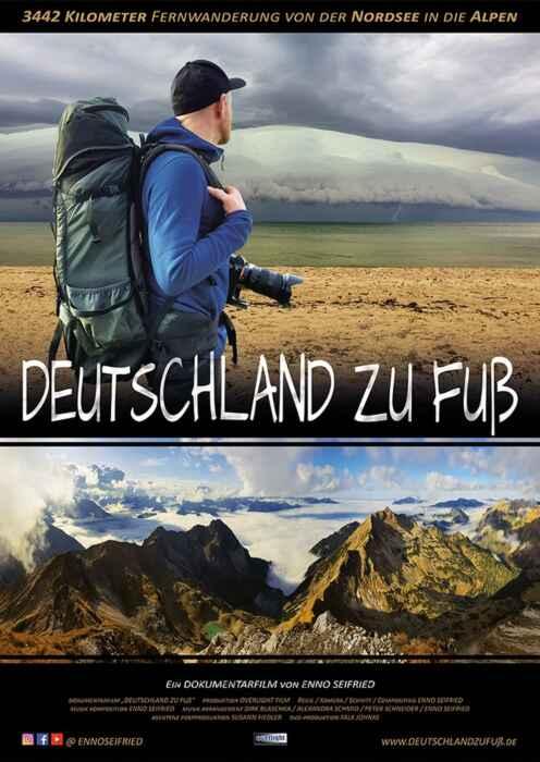 Deutschland zu Fuß - 3442 Km von der Nordsee in die Alpen (Poster)