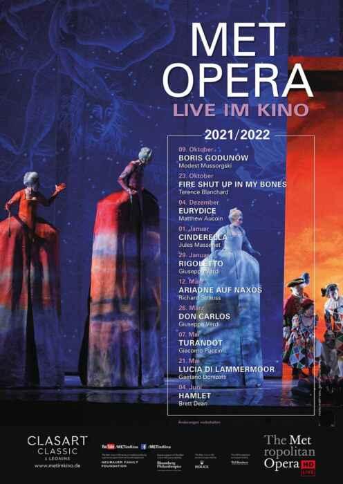 Met Opera 2021/22: Terence Blanchard FIRE SHUT UP IN MY BONES (Poster)