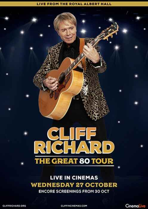 Cliff Richard Live - The Great 80 Tour (Poster)