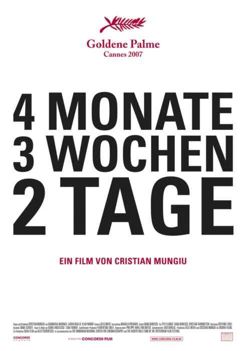 Vier Monate, drei Wochen und zwei Tage (Poster)